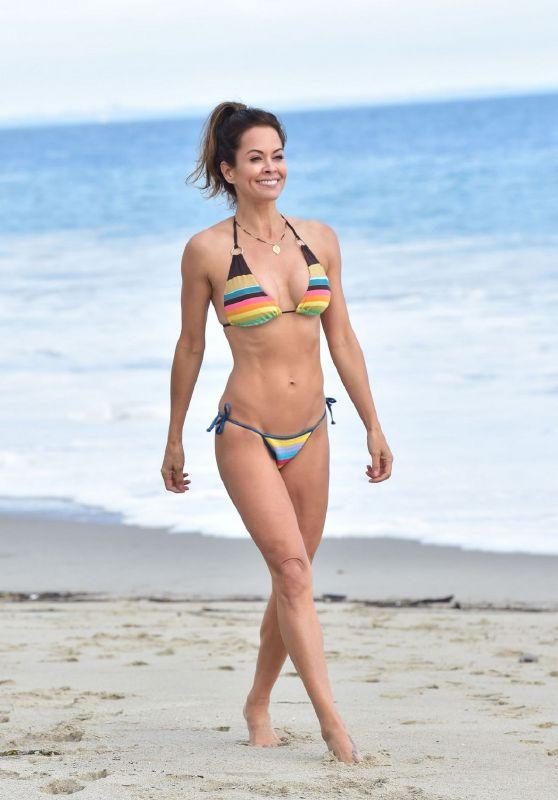 Brooke Burke in Bikini - BookeBurkBody App Filming in Malibu 06/20/2019