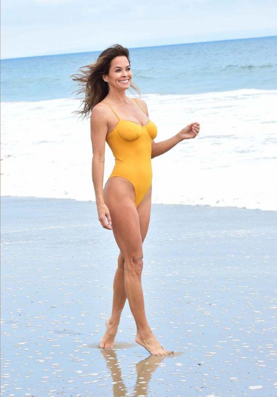 Brooke Burke in Swimsuit on the Beach in Malibu 06/03/2019