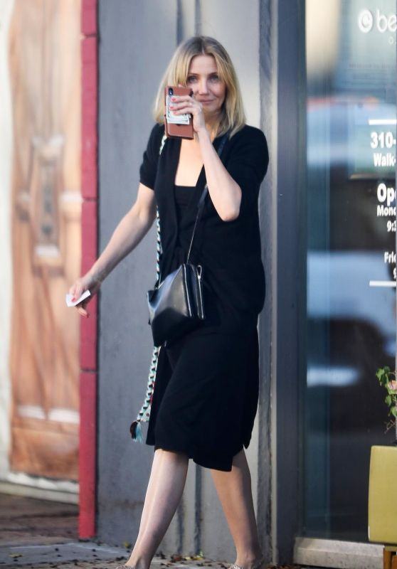 Cameron Diaz at a Nail Salon in Los Angeles 6/27/2019