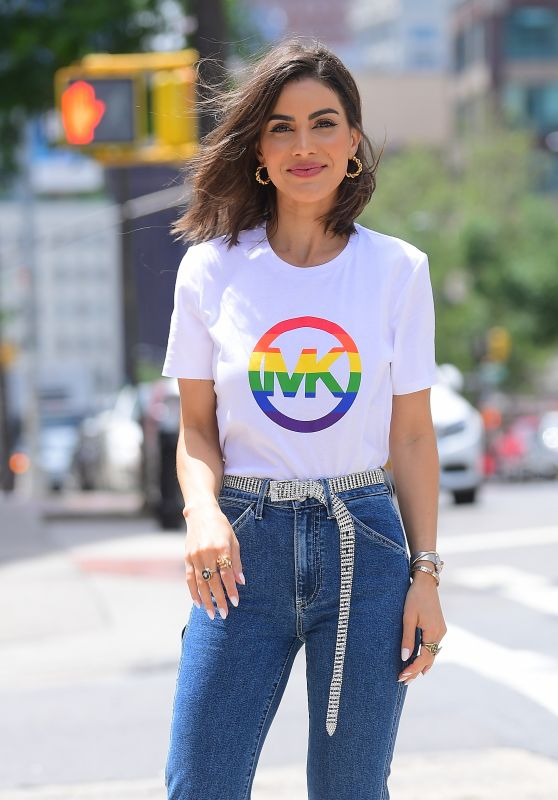 Camila Coehlo in Pride T-Shirt for Michael Kors Photoshoot in NYC 06/11/2019