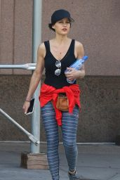 Carla Gugino in Spandex - Leaving the Gym in NYC 06/07/2019