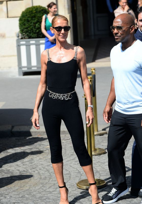 "Celine Dion - Leaving Her Hotel ""Le Crillon"" in Paris 06/27/2019"