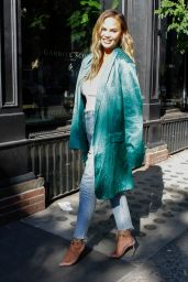 Chrissy Teigen Showing Off Her Trendy Style - NYC 06/23/2019