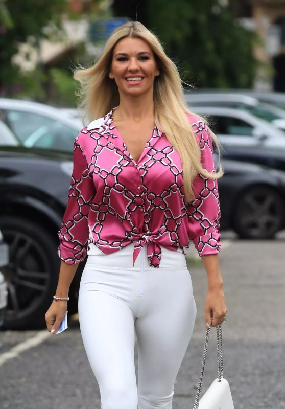 Christine McGuinness in Tights - Cheshire 06/12/2019