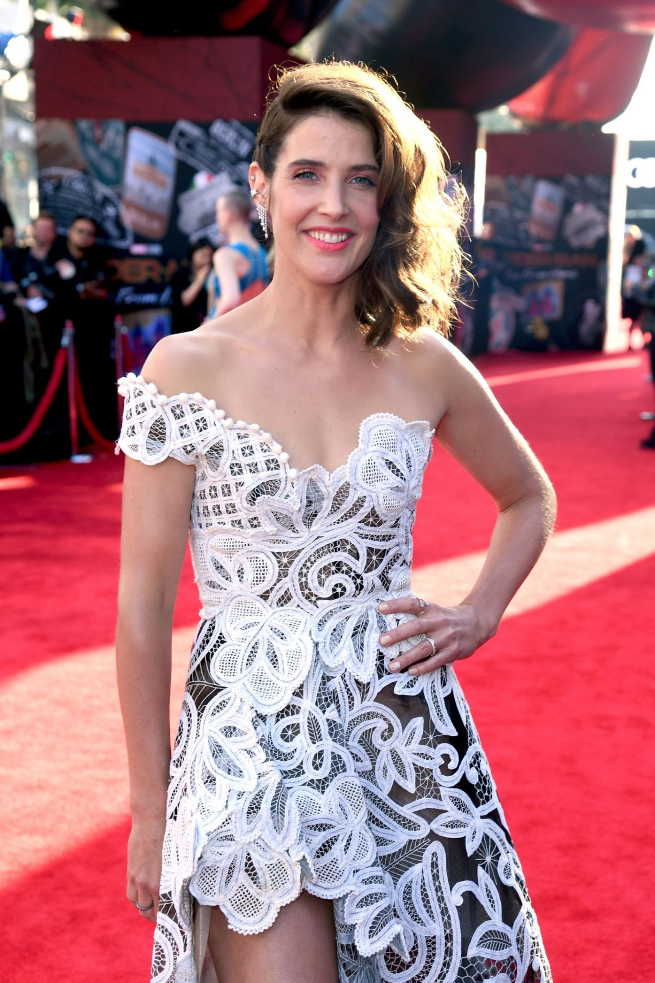 Cobie Smulders  Spider-Man Far From Home Red Carpet In -5402