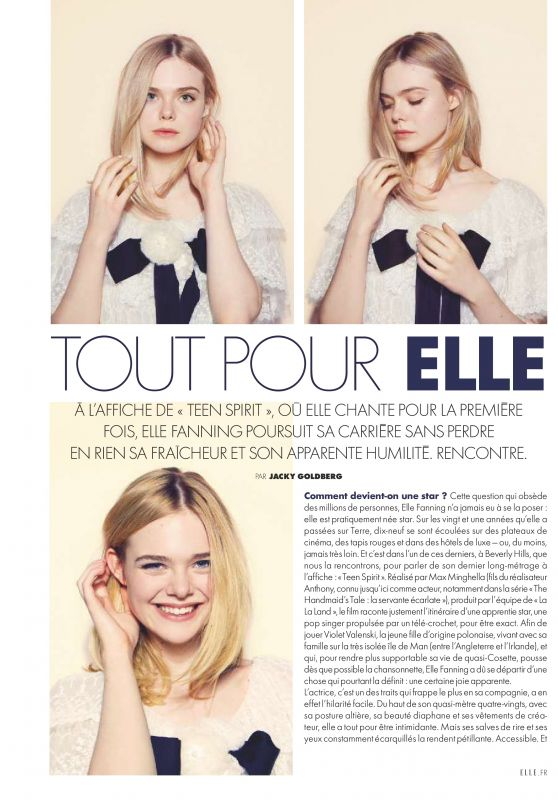 Elle Fanning - ELLE Magazine France July 2019 Issue