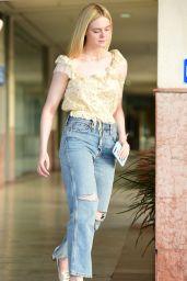 Elle Fanning in Ripped Jeans - Out in LA 06/06/2019
