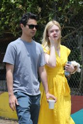 Elle Fanning With Max Minghella - Shopping in LA 06/15/2019