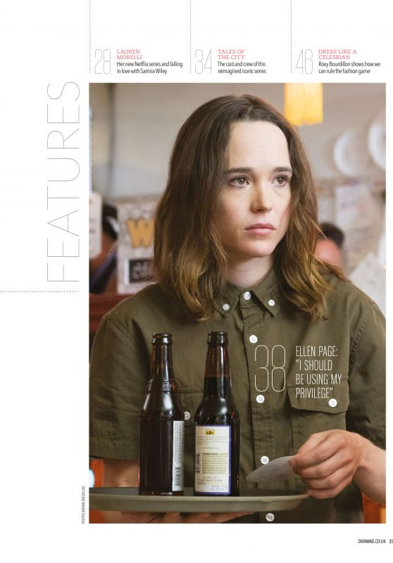 Ellen Page - Diva Magazine UK June 2019 Issue