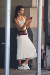 Emily Ratajkowski on Her Phone - NYC 06/06/2019