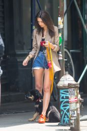 Emily Ratajkowski - Walking Her Dog in NYC 06/05/2019