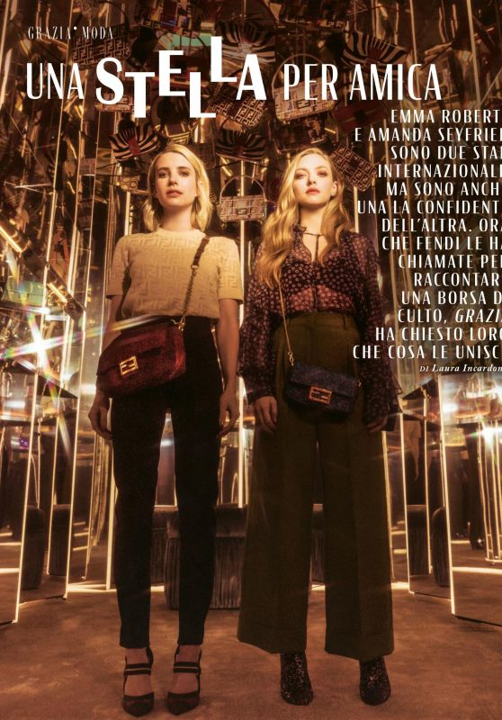 Emma Roberts and Amanda Seyfried - Grazia Magazine Italy 06/06/2019 Issue