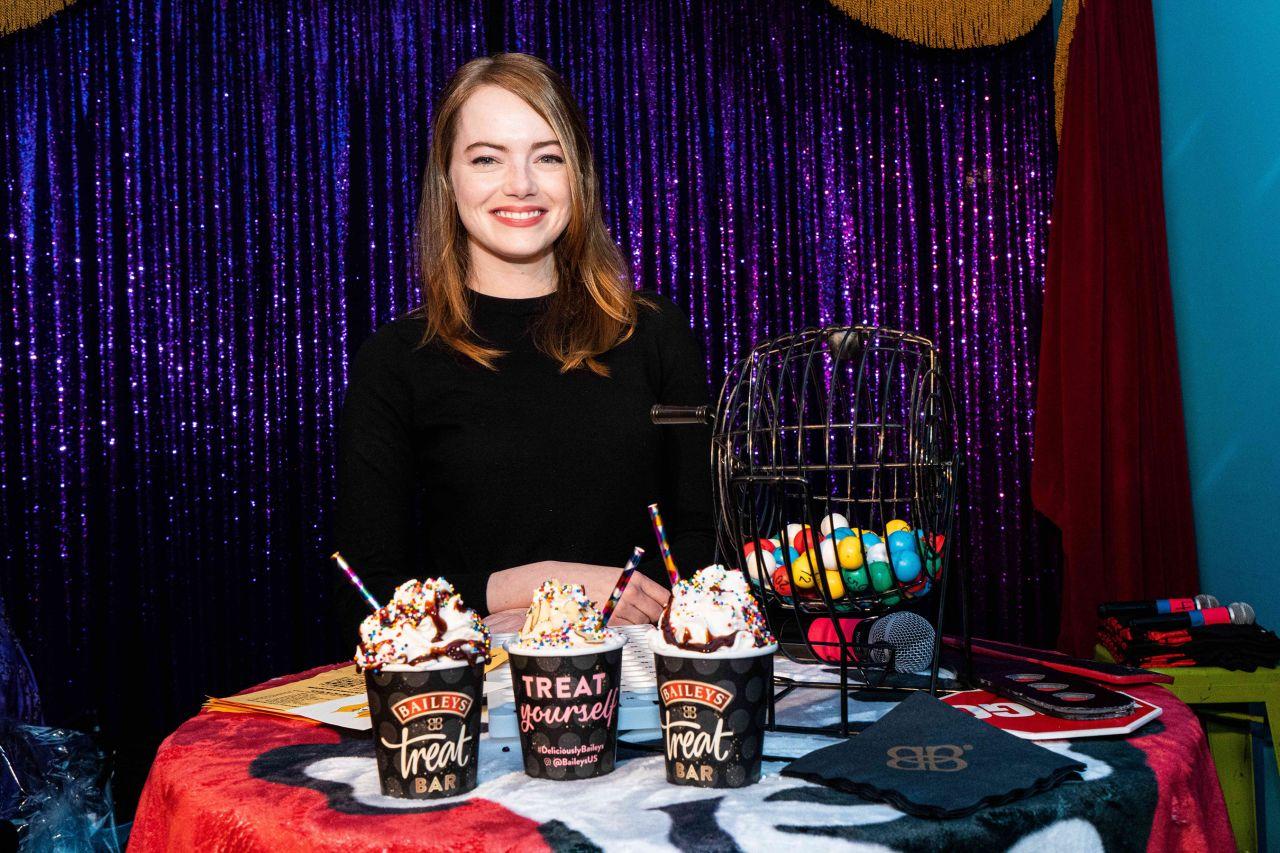 Emma Stone - Em & Friends Charity Bingo Event in West Hollywood