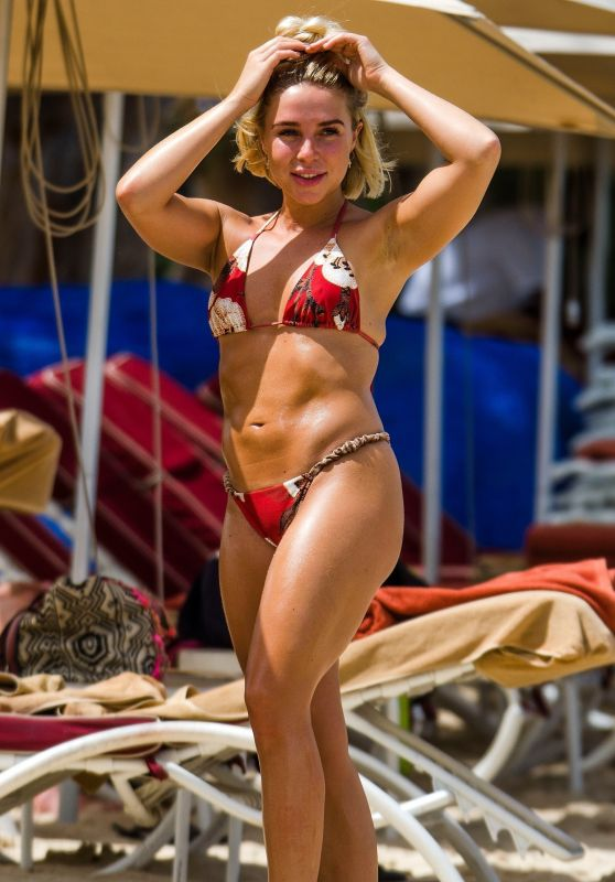 Gabby Allen in Bikini on the Beach in Barbados 06/16/2019