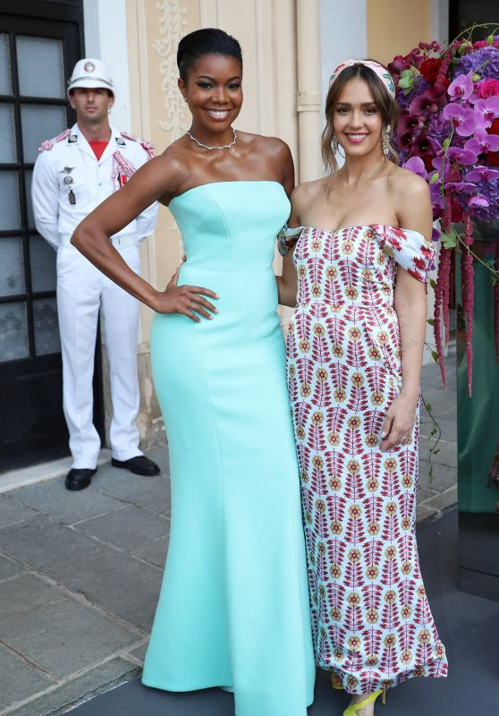 Gabrielle Union and Jessica Alba - Cocktail Party at The Palace of Monaco 06/16/2019