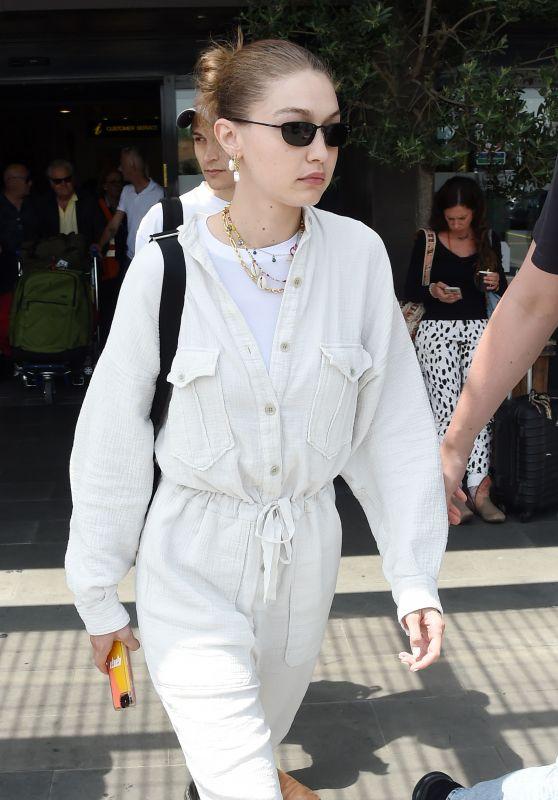 Gigi Hadid at Florence Airport, Italy 06/12/2019