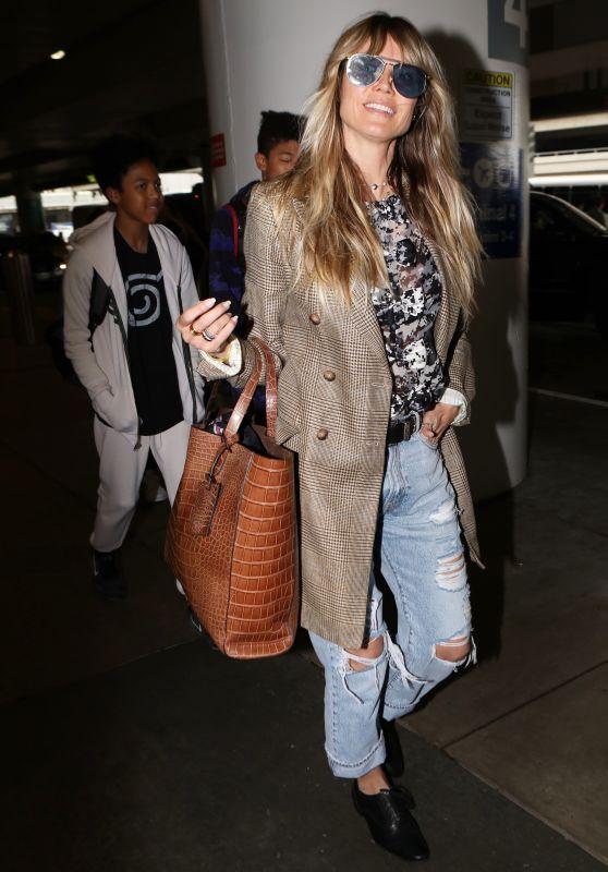 Heidi Klum - Arriving at LAX Airport in LA 06/17/2019