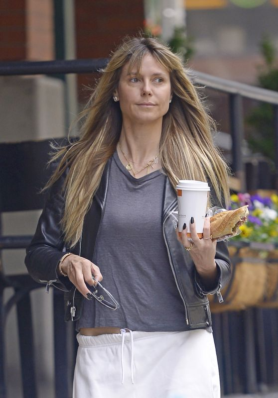 Heidi Klum Make-up Free - Out in NYC 06/03/2019