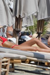 Izabel Goulart at the Beach in Mykonos 06/26/2019