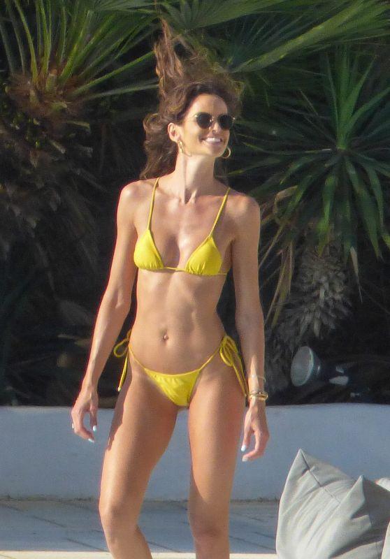 Izabel Goulart in a Yellow Bikini 06/25/2019