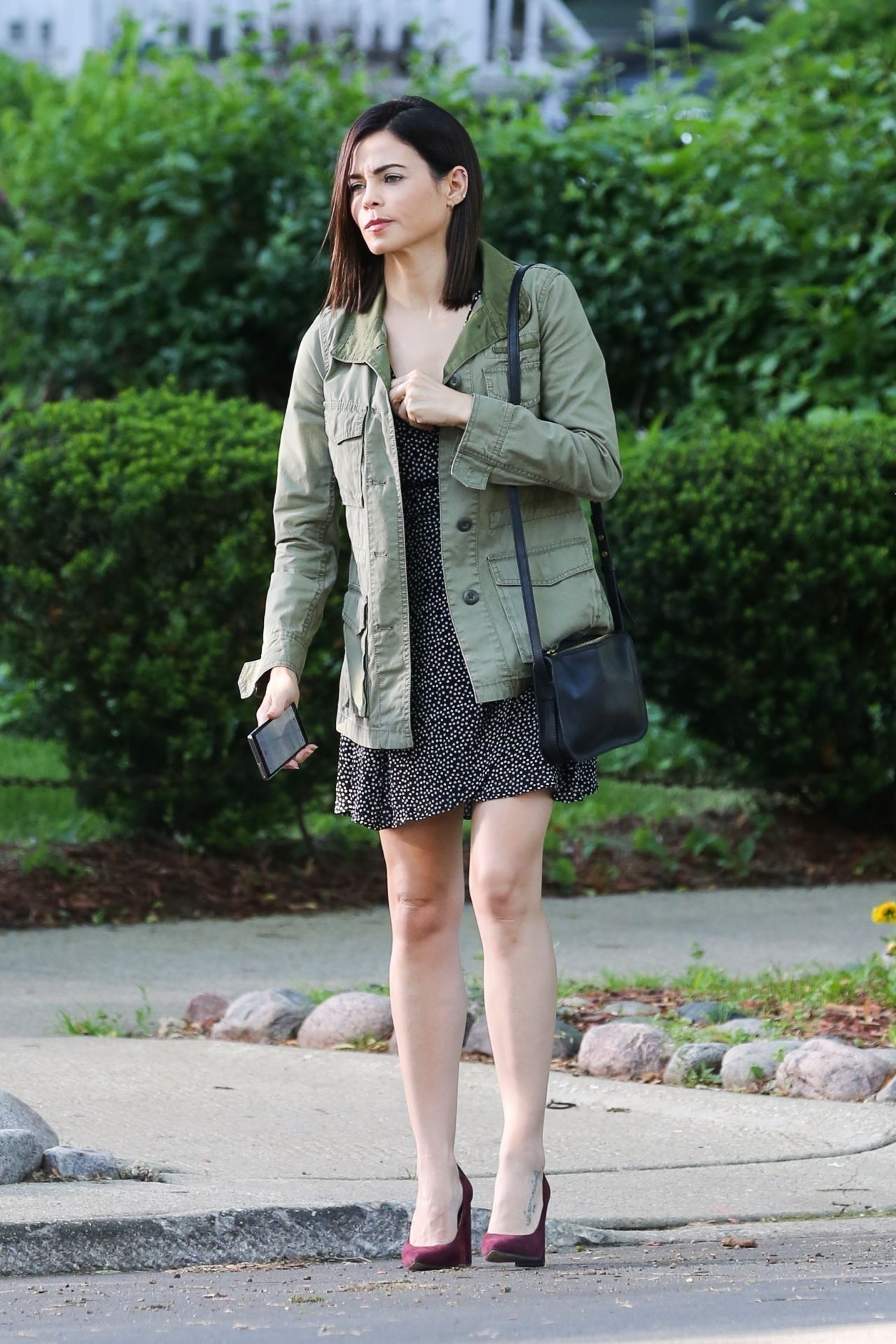 Jenna Dewan - Filming a Scene for Her Netflix Project in Chicago 06