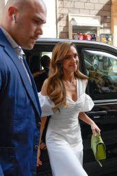 Jessica Alba in White - Rome 06/22/2019