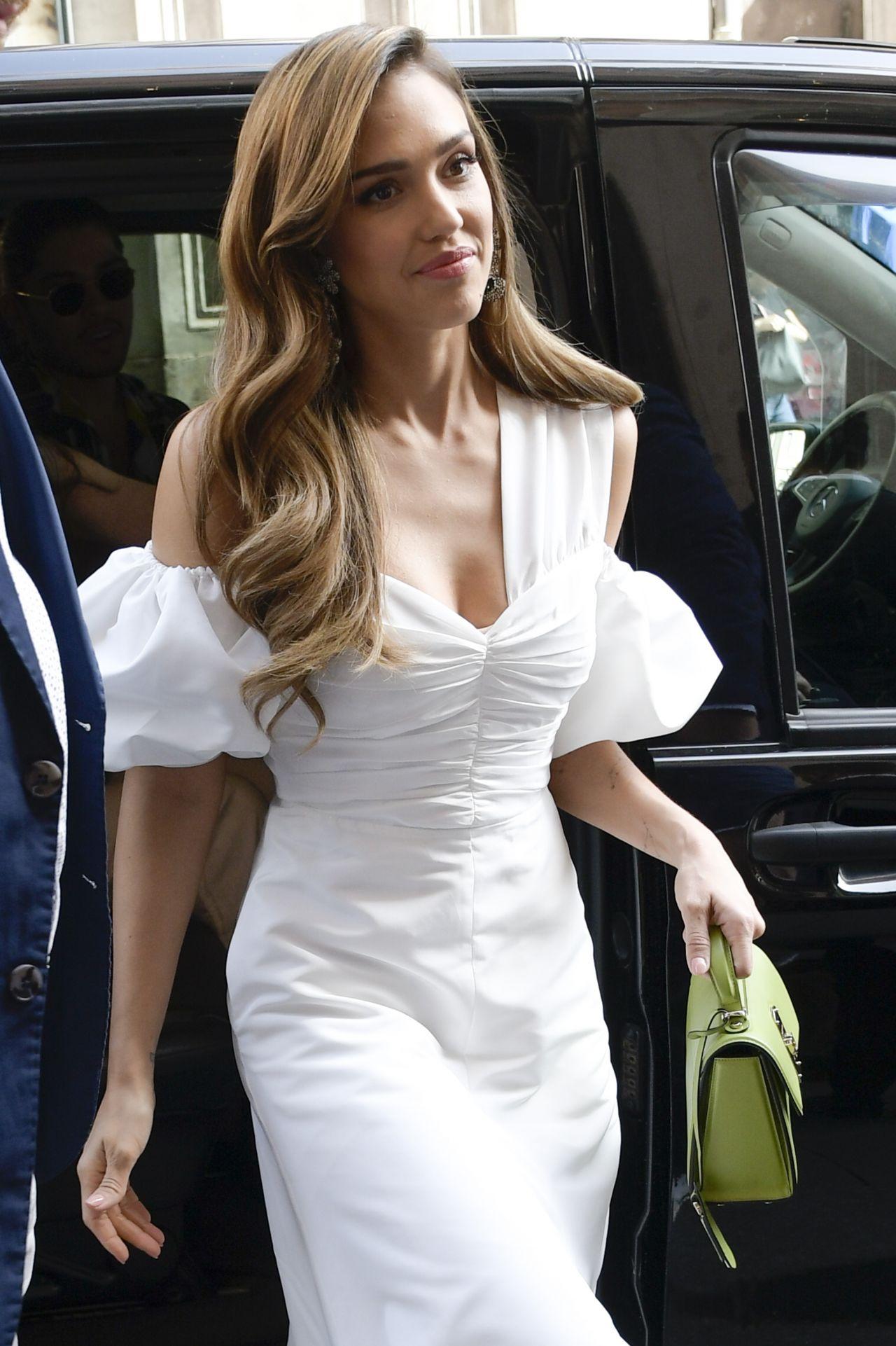 Jessica Alba In White Rome 06 22 2019