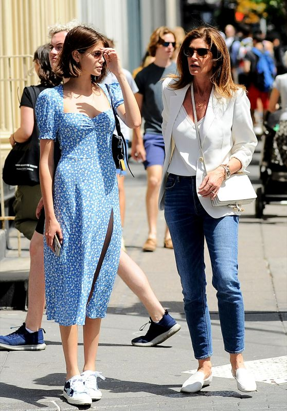 Kaia Gerber and Cindy Crawford - Out in NYC 06/08/2019