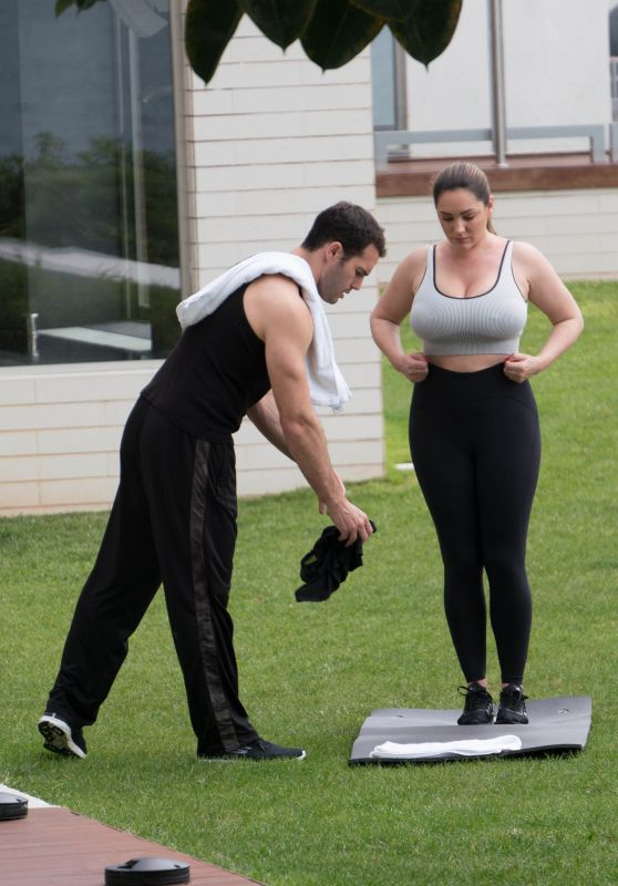 Kelly Brook - Working Out in Kent, June 2019