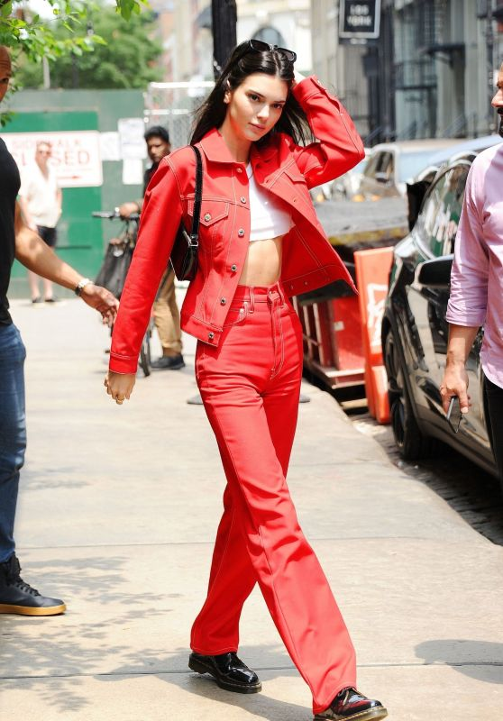 Kendall Jenner in Red - SoHo, NYC 06/01/2019
