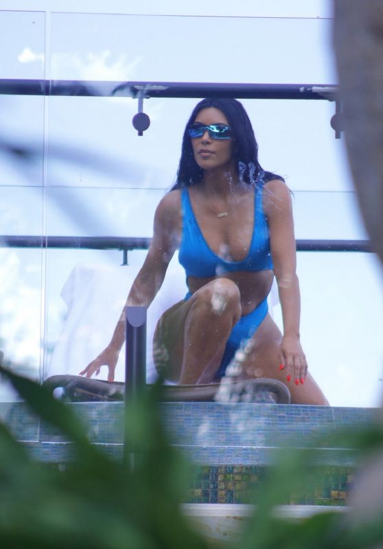 Kim Kardashian Bikini Candids - Vacation in Costa Rica 06/21/2019