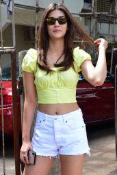 Kriti Sanon Leggy in Shorts - Mumbai 06/04/2019