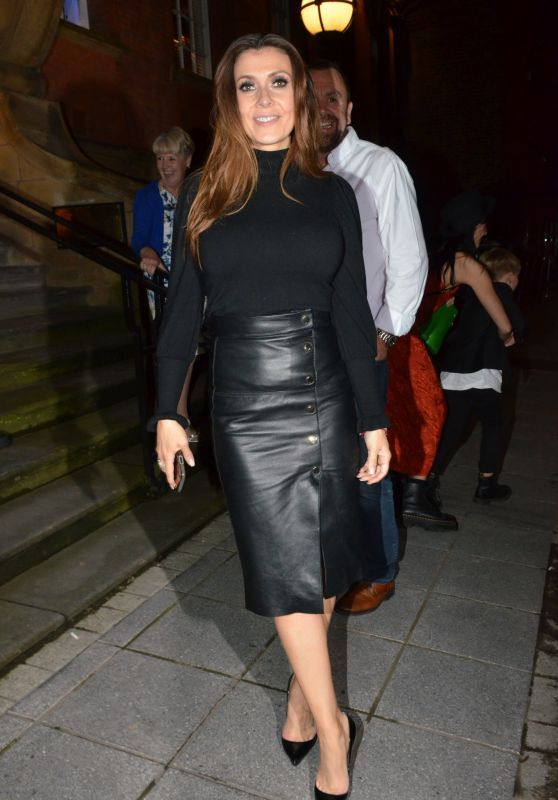 Kym Marsh - Leaving San Lorenzo Restaurant in Warrington 06/13/2019