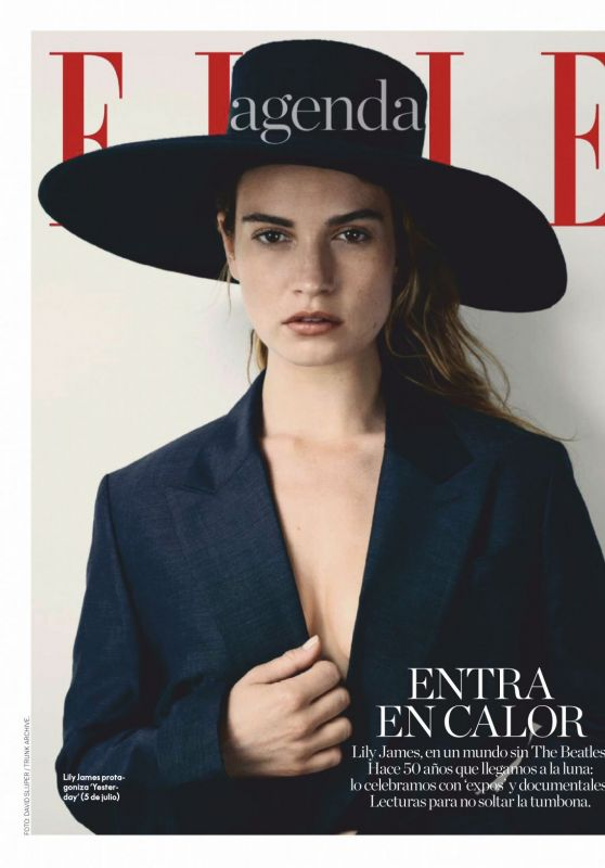 Lily James - ELLE Magazine Spain July 2019 Issue