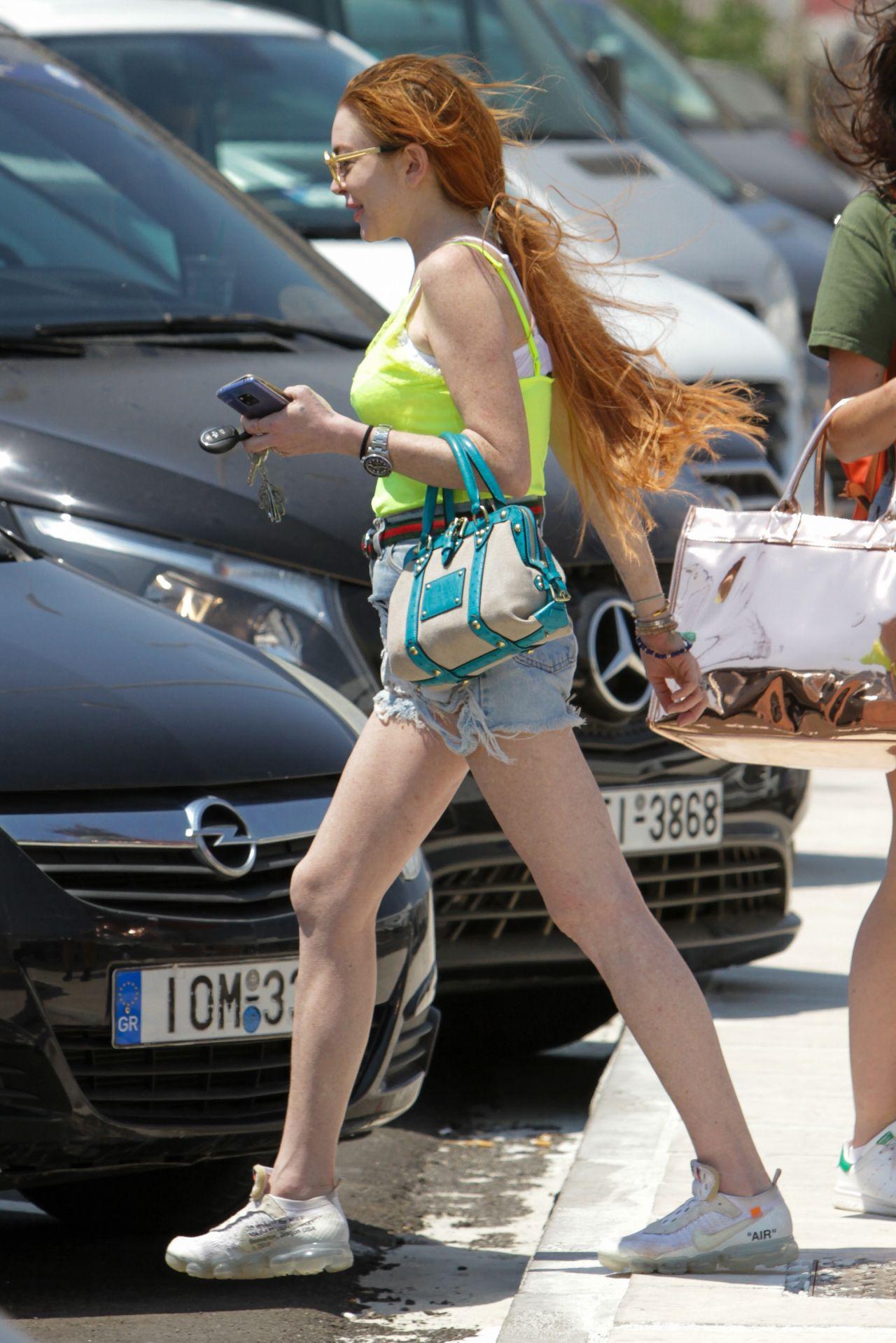 Lindsay Lohan Mykonos 06 27 2019