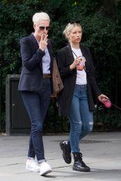 Lottie Moss - Walking Her Dog in Chelsea 06/03/2019