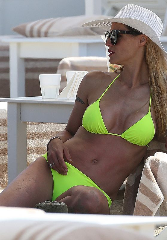 Michelle Hunziker in Bikini on the Beach in Forte dei Marmi 06/18/2019