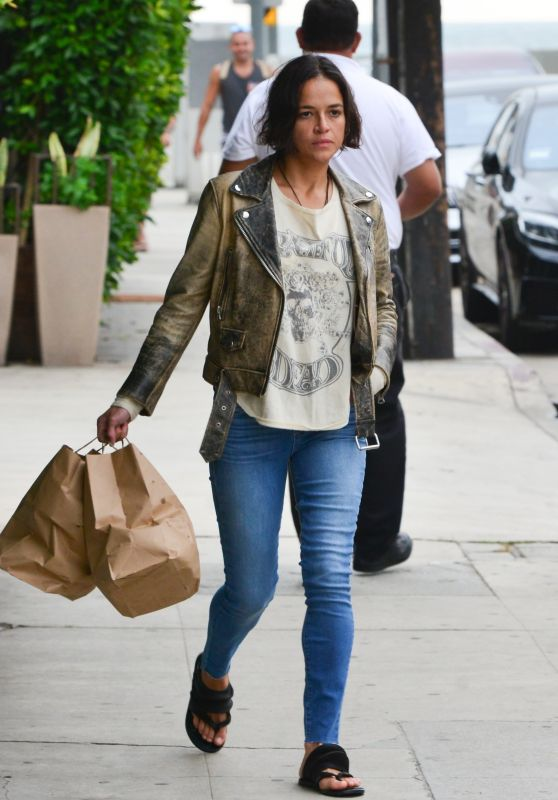 Michelle Rodriguez - Gets Her Dinner To-Go From Giorgio Baldi in Santa Monica 06/13/2019