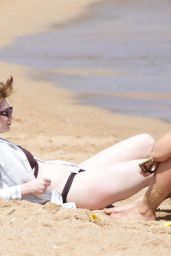 Nicola Roberts in Bikini - Beach in Sardinia 06/16/2019