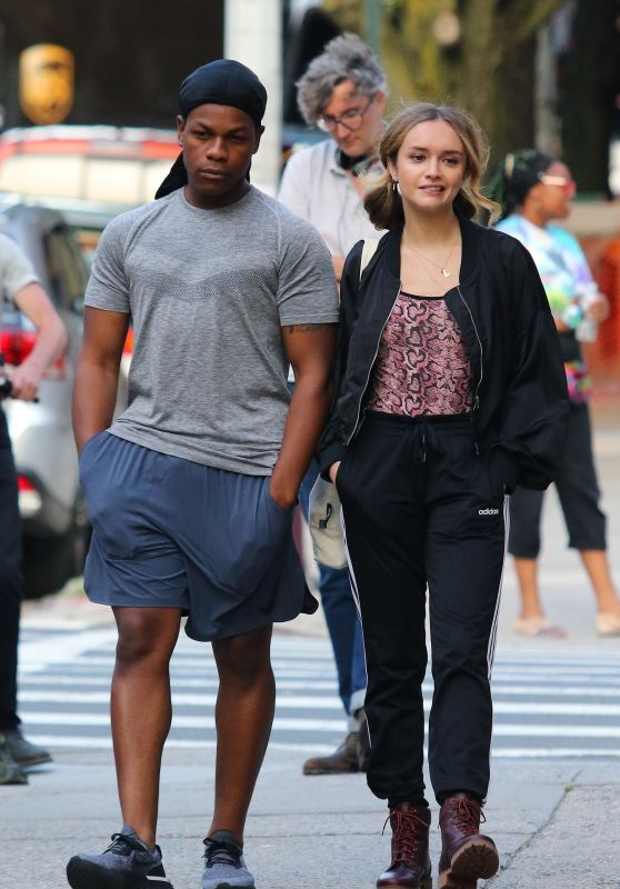 """Olivia Cooke and John Boyega - Filming Their Upcoming Movie Project """"Naked Singularity"""" in Brooklyn 06/12/2019"""