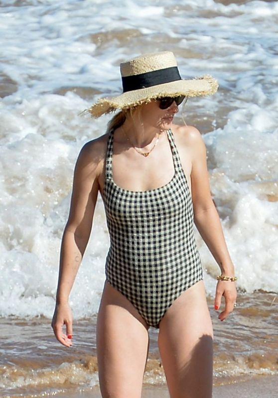 Olivia Wilde in a Swimsuit - Beach in Hawaii 06/16/2019