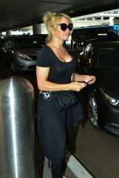 Pamela Anderson at LAX Airport in Los Angeles 06/05/2019