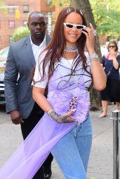Rihanna - Arrives to Her Goddaughter Majesty
