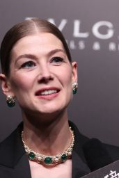 Rosamund Pike - Bvlgari High Jewelry Exhibition in Shanghai 06/18/2019