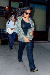 Salma Hayek Casual Style - Leaves The Greenwich Hotel in New York 06/04/2019