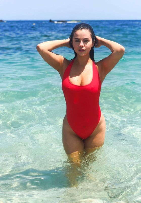 Selena Gomez in a Red Swimsuit 06/28/2019