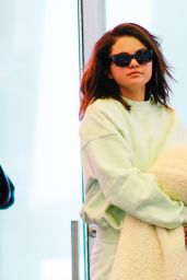 Selena Gomez in Comfy Travel Outfit at JFK Airport in NYC 06/12/2019