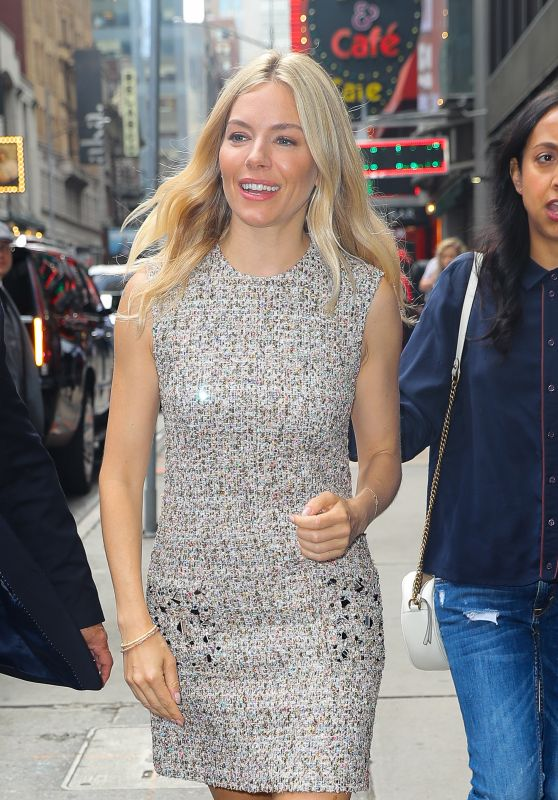 Sienna Miller - Arrives at the Good Morning in New York 06/05/2019