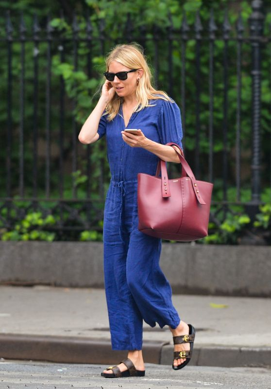 Sienna Miller Casual Style - Out in New York City 06/20/2019