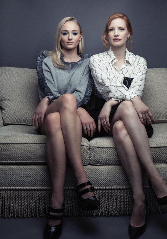 Sophie Turner and Jessica Chastain - Paris Match Magazine 06/12/2019
